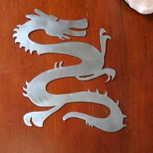 Chinese Dragon Metal Art
