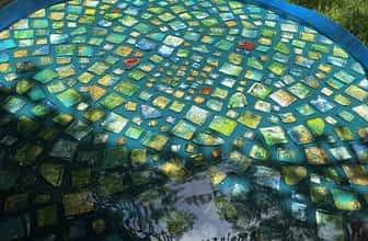 WIP for resin tile table art resin table
