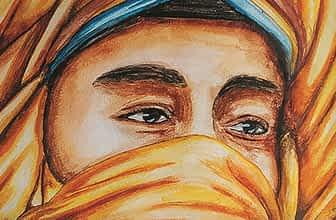 watercolor desert man