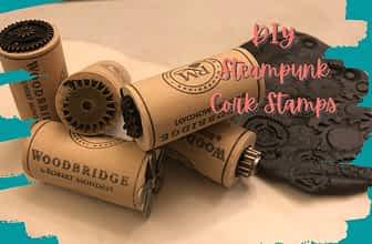 diy steampunk cork stamps