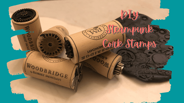 diy steampunk cork stamps