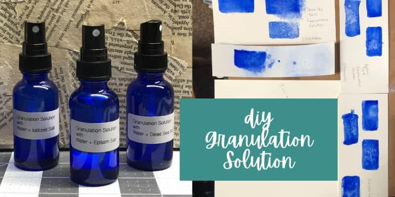Granulating Solution & Medium for Watercolor