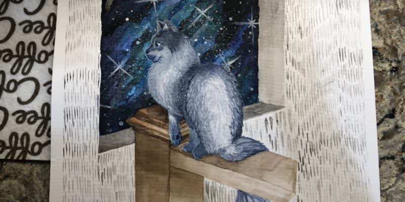 Watercolor Long-Haired Siamese Cat – Gift