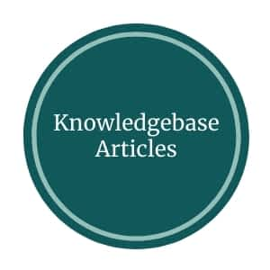 Knowledgebase Articles