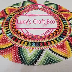 Czech Glass Bead Necklace by Lucy's Craft Box