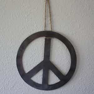Peace Sign Metal Wall Hanging