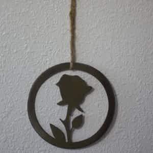 Metal Rose Wall Hanging