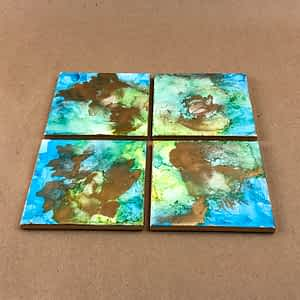 Alcohol Ink Coasters