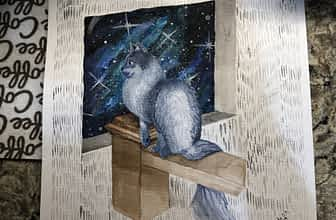 Siamese Cat Bonnie Finished Painting for Sofi