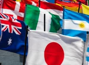 World Flags Translate Worldwide Audience