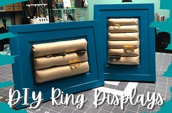 DIY Ring Display | Craft Fair Display Idea
