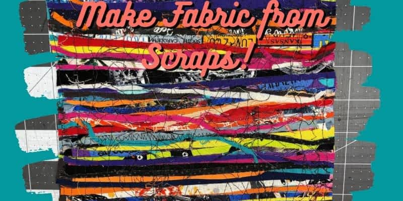 Make Fabric from Serger Scraps