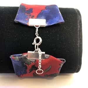Necktie Fabric Cuff Bracelet
