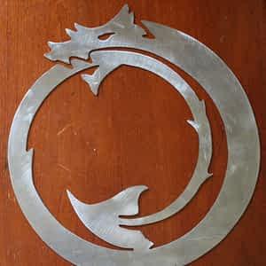 Circle Dragon Metal Art