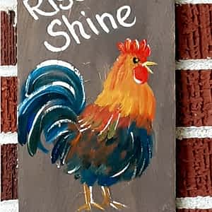 Rooster with Rise & Shine Mother Cluckers 1