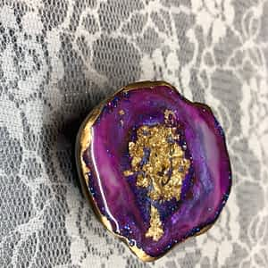 Geode Resin Pop Socket