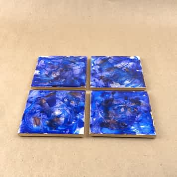 Alcohol Ink Coasters Set of 4