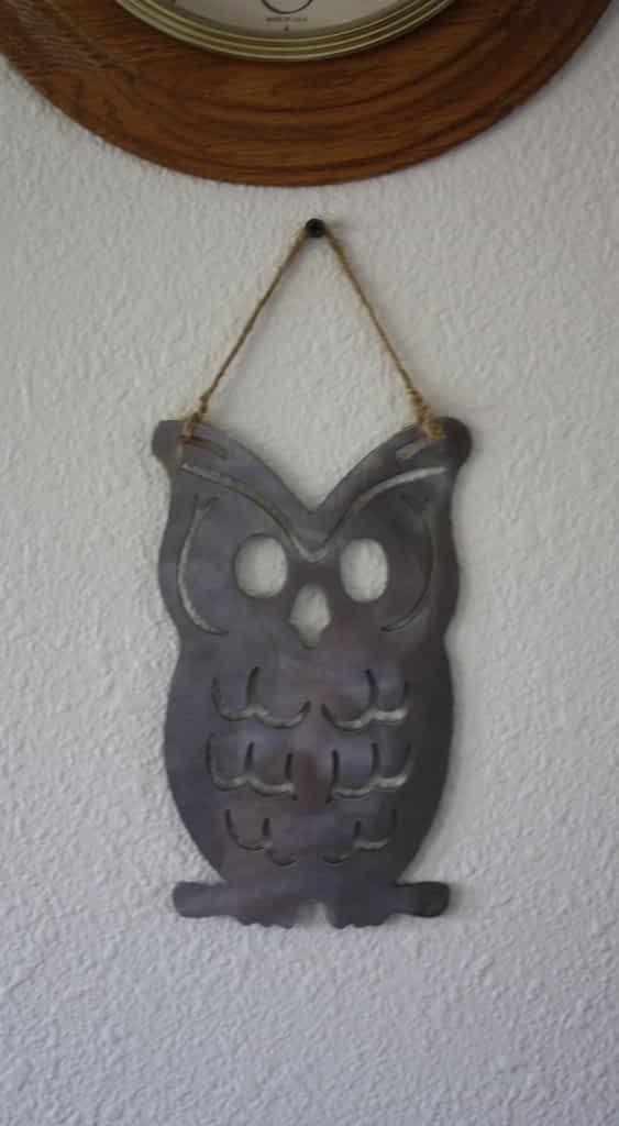 Owl Metal Art on Wall