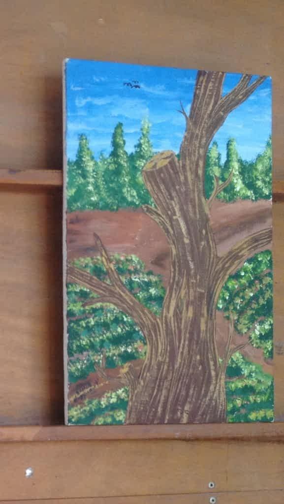 Samir painted a tree