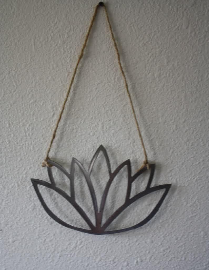 Lotus Flower Metal Wall Hanging