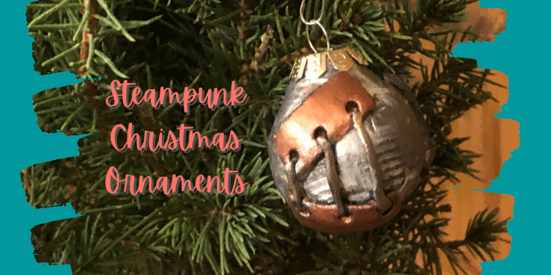 Steampunk Christmas Ornaments   DIY Decorate Your Tree   Polymer Clay