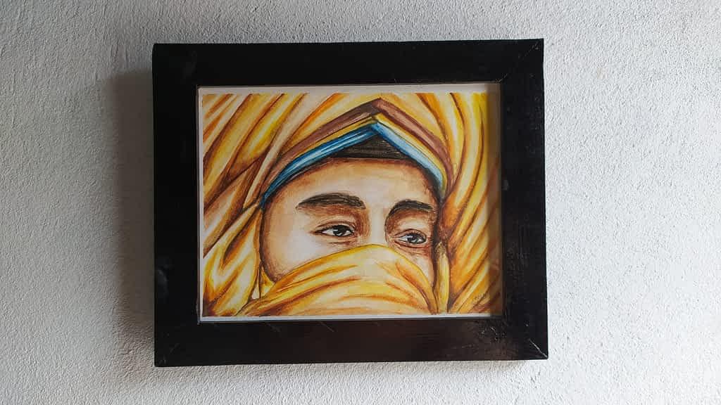 desert man watercolor