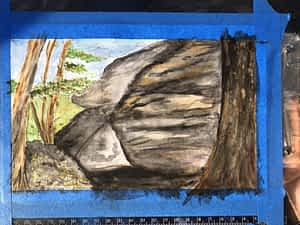 Crowder's Mountain Boulder Park Plein Air Painting