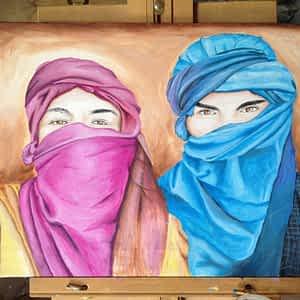 Desert Attire painting by Samir
