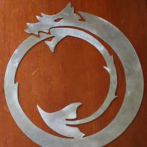 Circle Dragon Metal Art