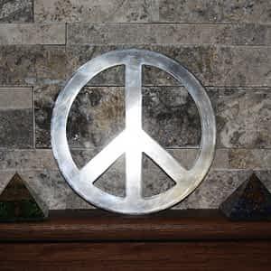 Peace Sign on Shelf
