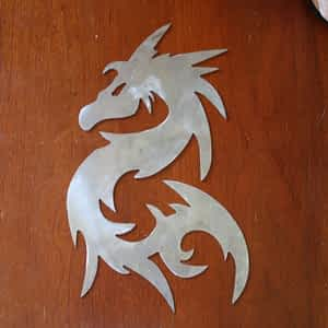 Tribal Dragon Metal Art