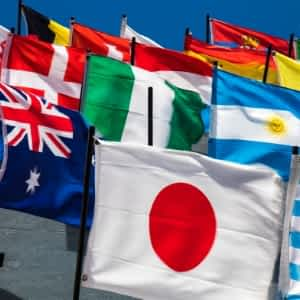 World Flags Translate Worldwide Audience