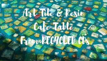 DIY Art Tiles from Recycled CDs – Excellent way to use old CDS