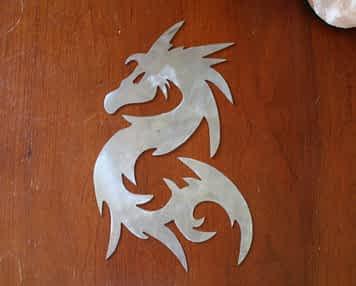 Tribal Dragon Metal Art