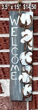 Cotton Welcome Sign