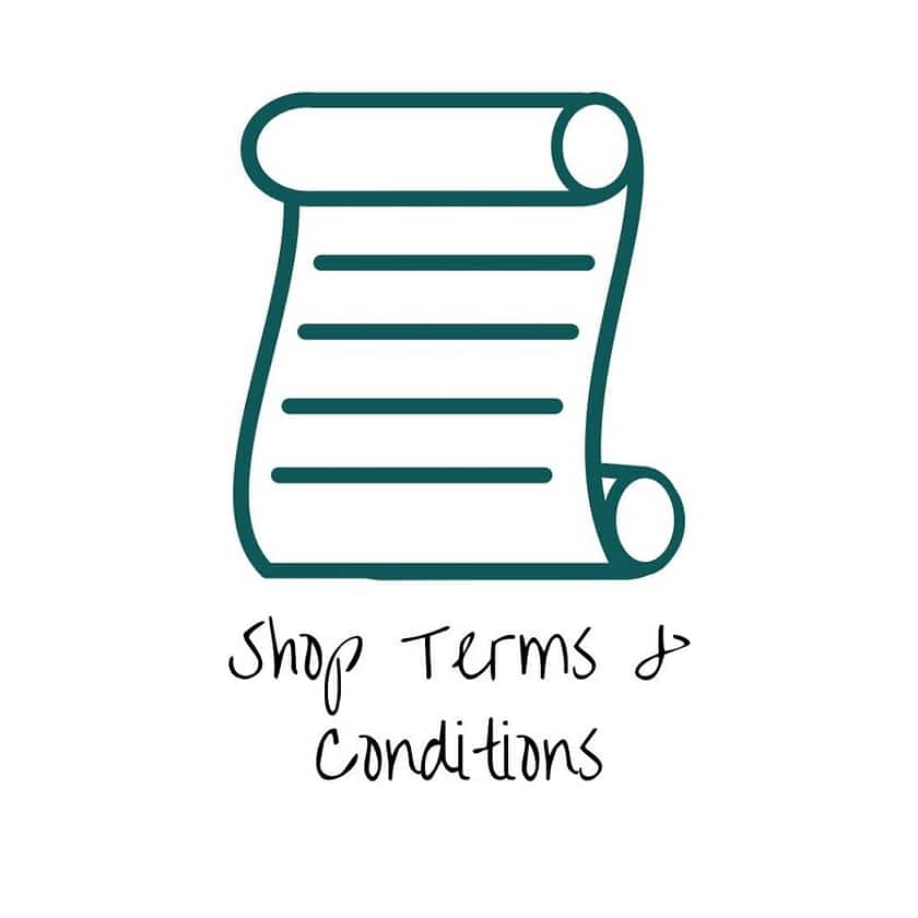 Shop Terms & Conditions